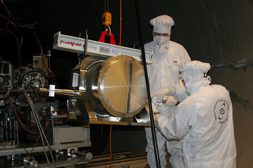eROSITA - mounting the mirrors at the PANTER test facility