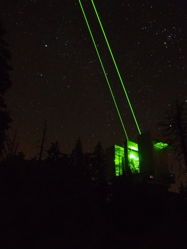 We just tested our lasers on sky for the very first time!