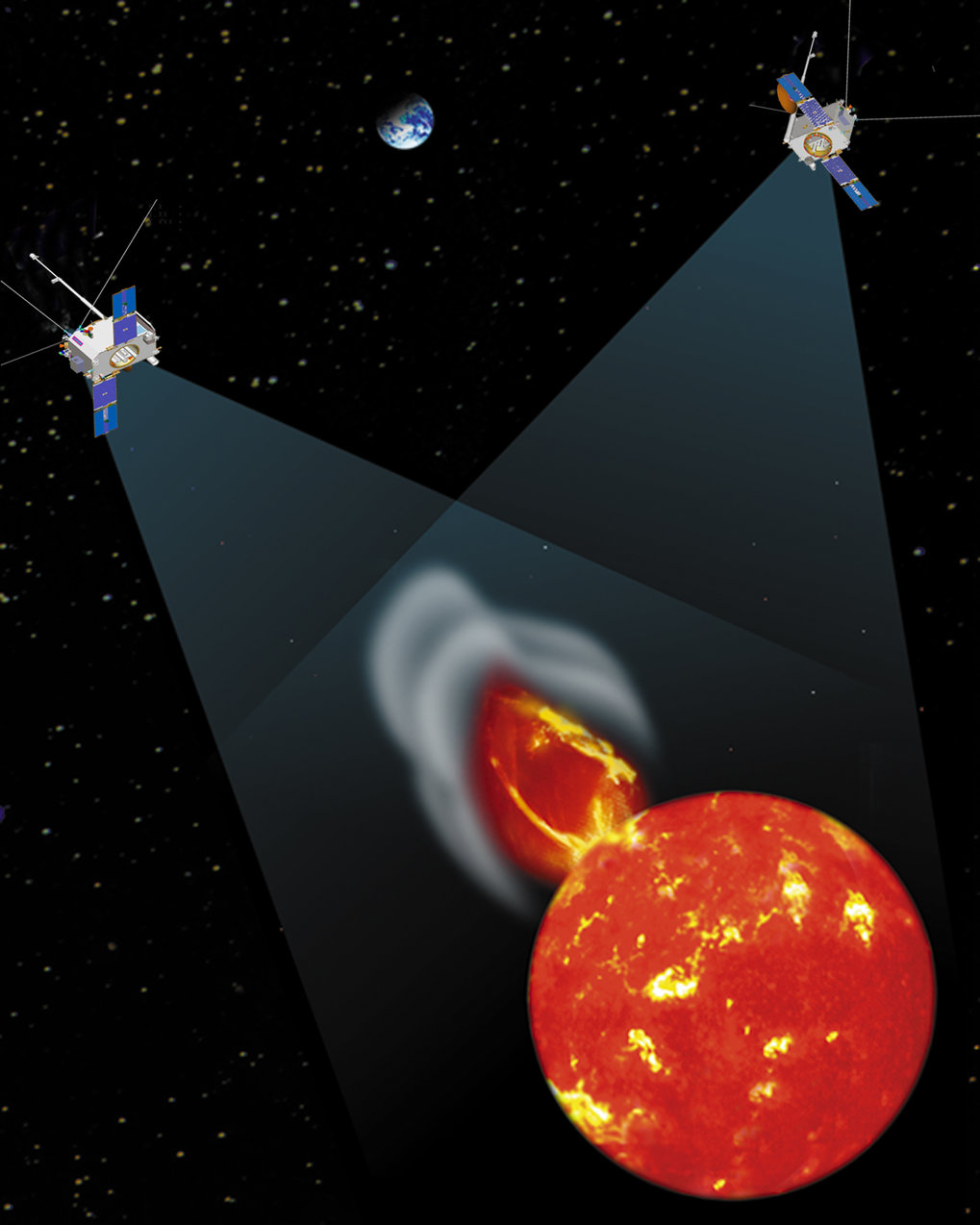 STEREO-близнецы покажут землянам невидимое Солнце.