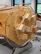 The joinery produces wooden models of the experiment components for design and wiring.