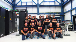 GRAVITY — the instrument team during the first observations at Paranal