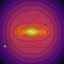 Surface density of the best-fitting model of the inner Galaxy.