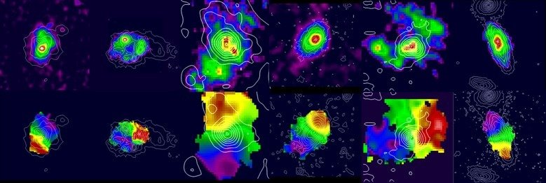 Distant galaxies are dominated by gas and stars - where is the Dark Matter?