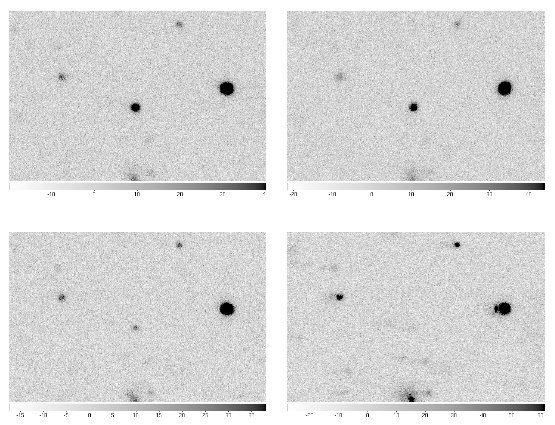 These images, taken with GROND in the R-band, show how the GRB is fading over the course of nine nights. The first image was taken just about 30 hours after the alert from the Fermi satellite.