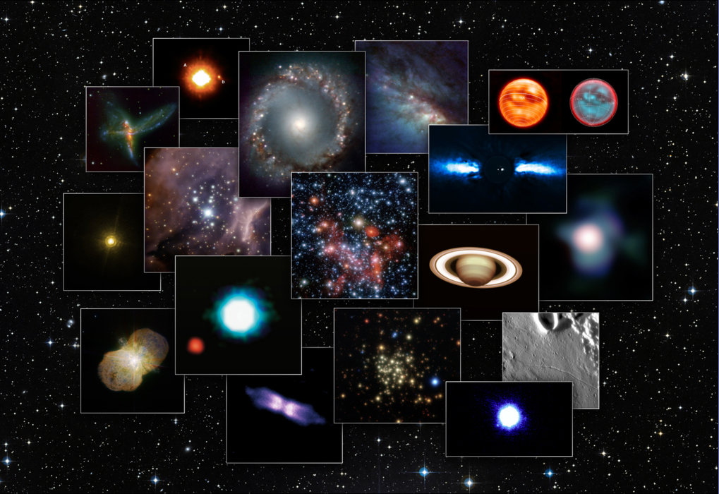Astronomical images taken with NACO.