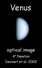 "<div style=""text-align: center;"">Optical image of Venus</div>"