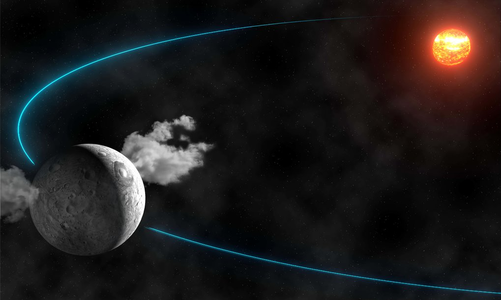 water ice in the asteroid belt max planck institute for