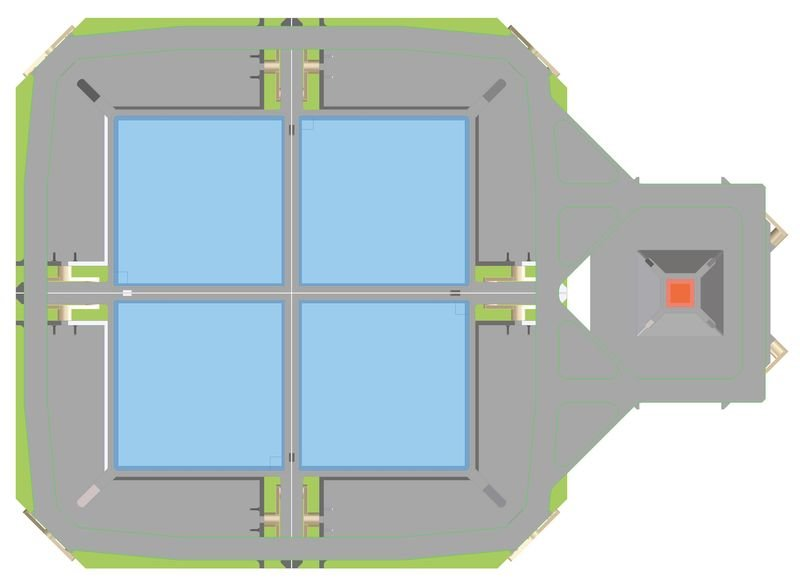 <p>Design of the WFI focal plane detector for ATHENA with the large area detector on the left-hand side (in blue color) and the fast timing detector on the right-hand side (in red color).</p>