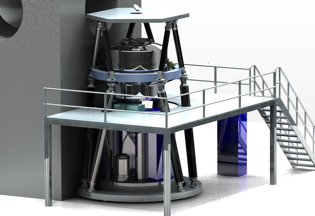 <p>The MICADO instrument will be developed and built by a consortium of European institutes in collaboration with ESO. MICADO will be the first dedicated imaging camera for the giant new telescope E-ELT and will take the power of adaptive optics to the next level. This picture shows how the instrument will look when installed on the telescope.</p>