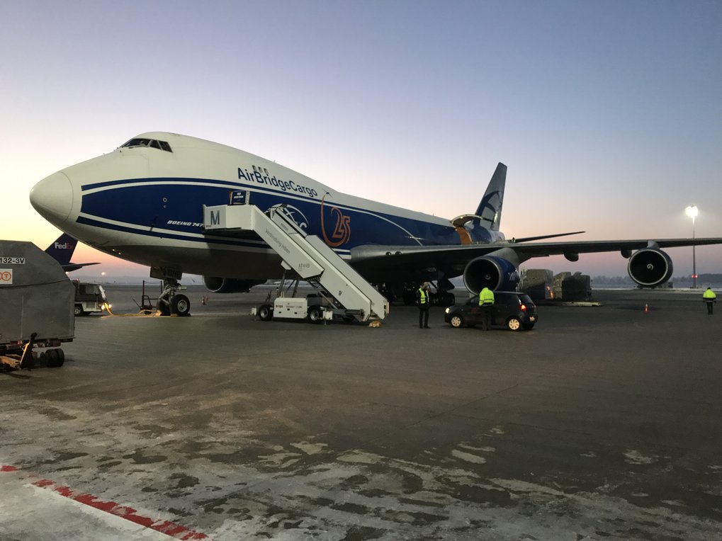 Lift-off for eROSITA: in the cargo plane to Moscow, the first 2300 Kilometres of its journey into space. After rocket launch in 2018, eROSITA will scan the entire sky with unprecedented sensitivity.