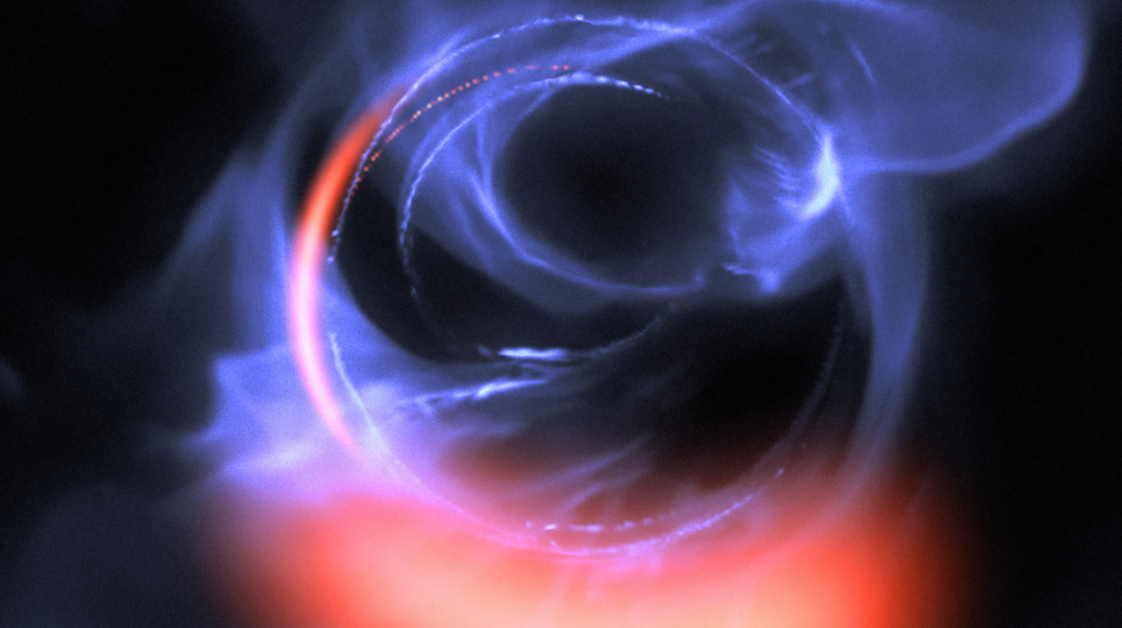 Material Orbiting close to Black Hole