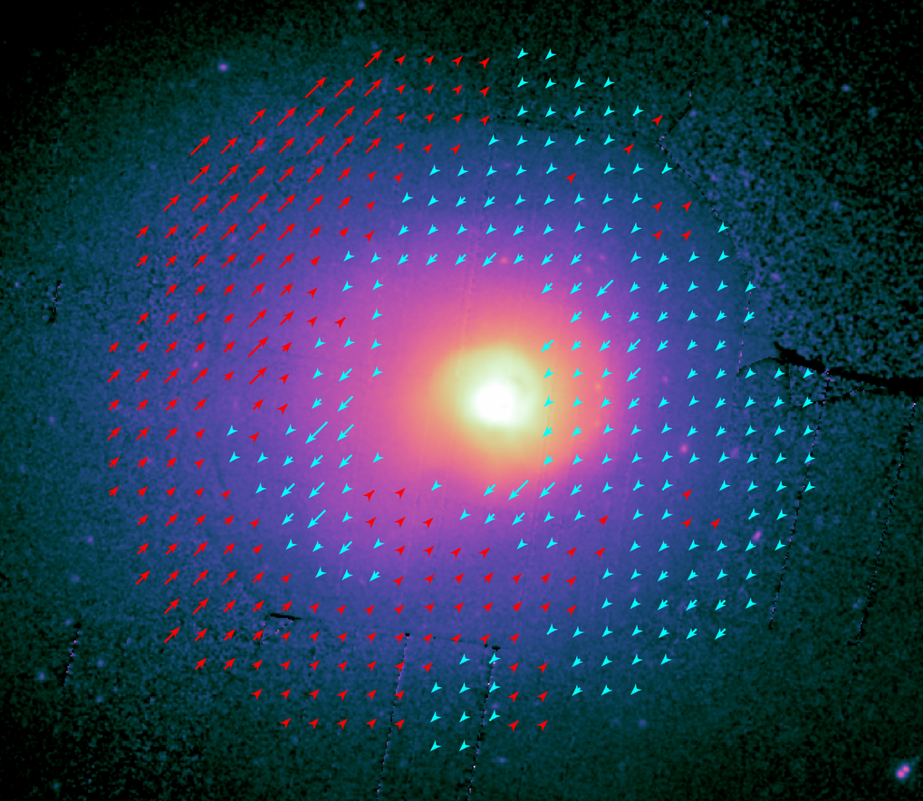 X-ray observatory XMM-Newton shows large scale plasma motion