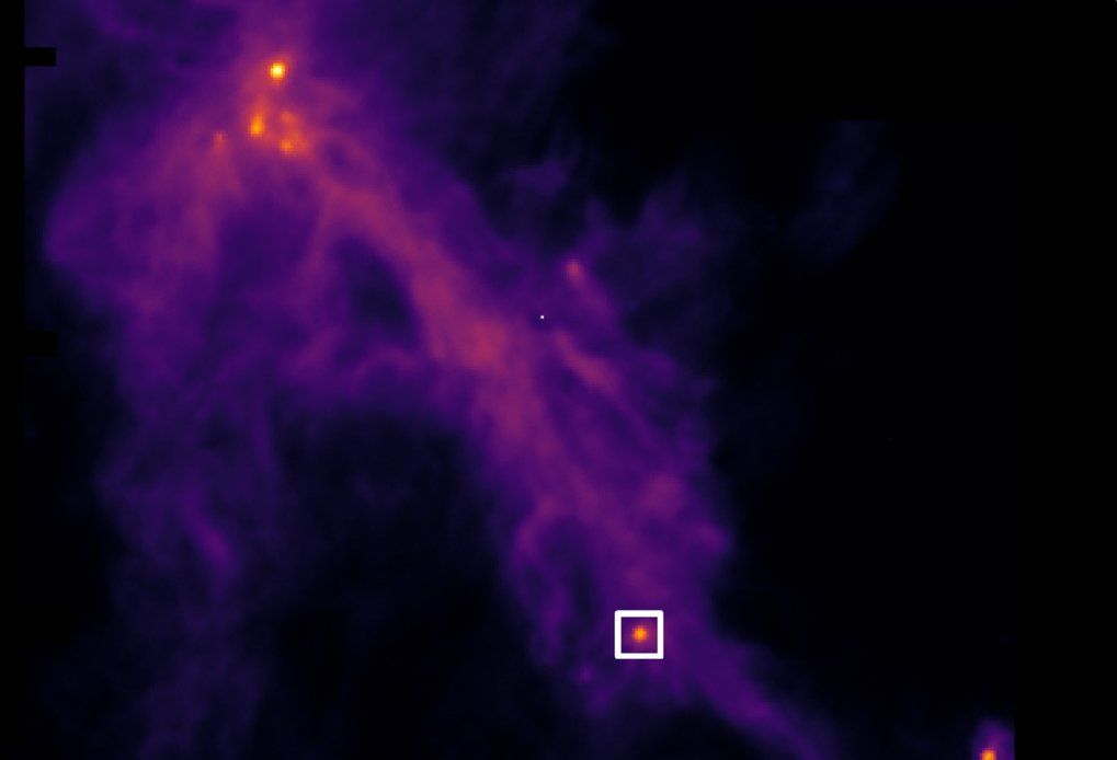 For the first time, astronomers have observed a conveyor belt from the outskirts of a star-forming dense cloud directly depositing material near a pair of young forming stars. Scientists at MPE and IRAM found that gas motions in the conveyor belt, dubbed a 'streamer', mainly obey the gravitational pull of the innermost part of the core, near the protostar pair.